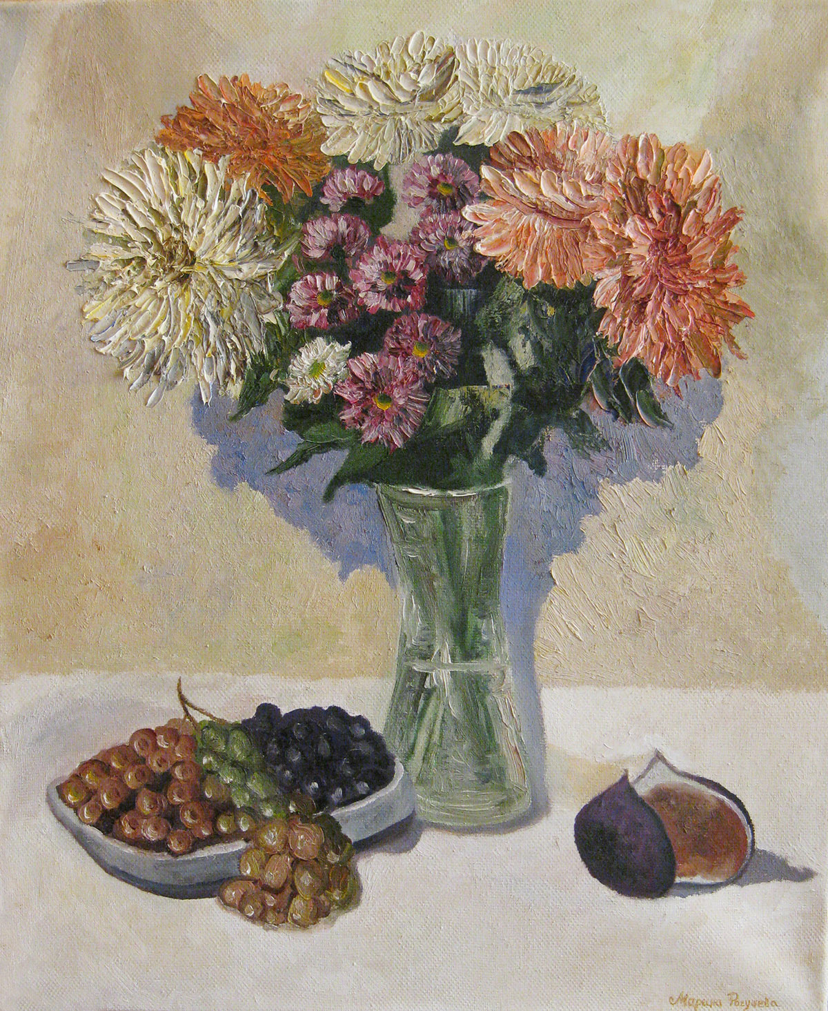 Still life with chrysanthemums. Gift from autumn