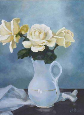 Tea roses in a jug