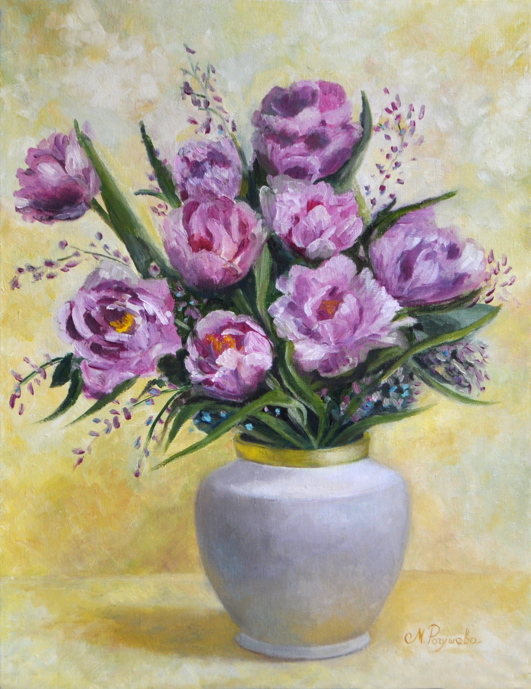 """Bouquet of tulips-Breath of Spring"""