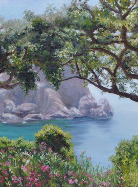 Greek lagoon in the sun