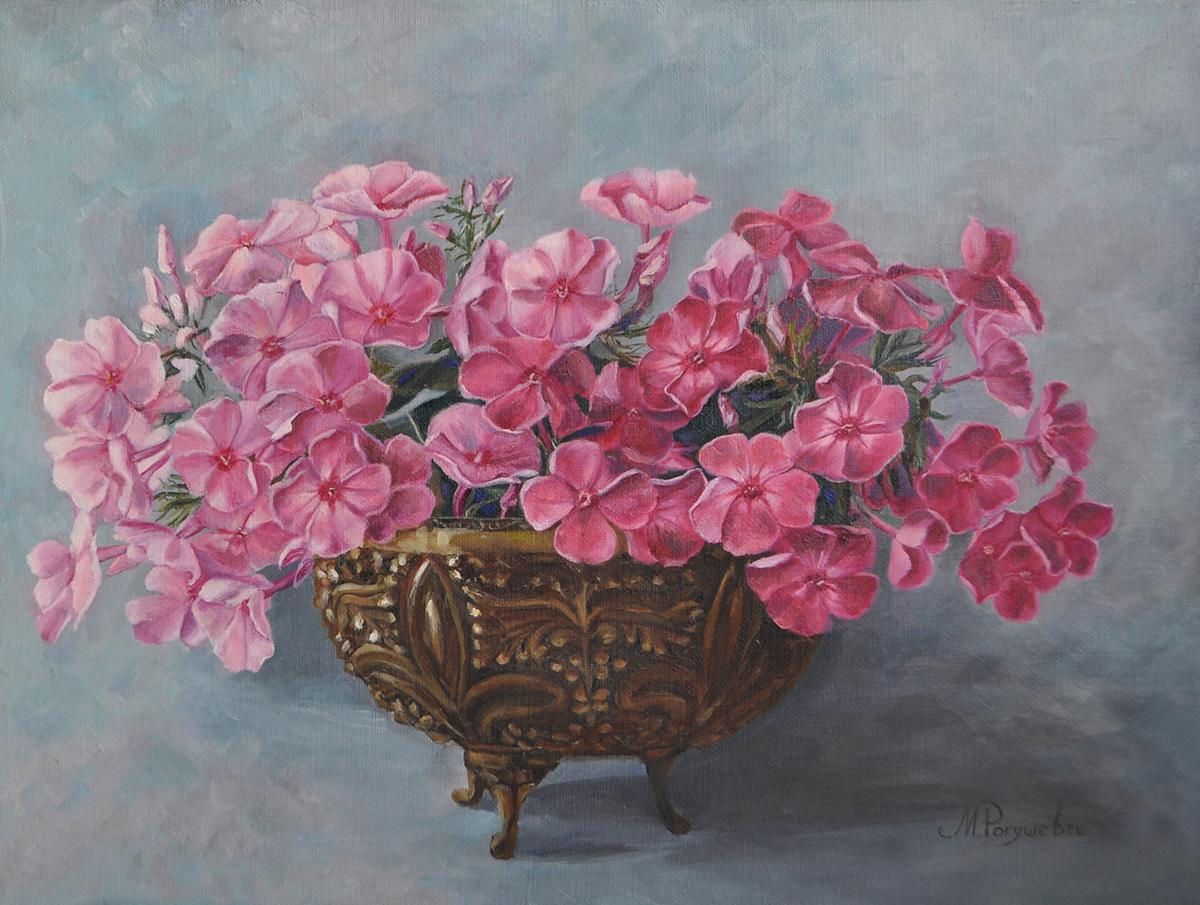 «Флоксы в бронзовой вазе»
