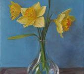 «Желтые нарциссы в вазе»