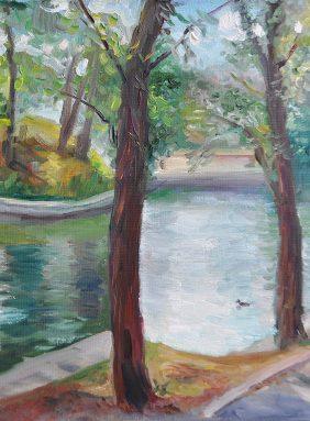 """Lake in the summer garden"""