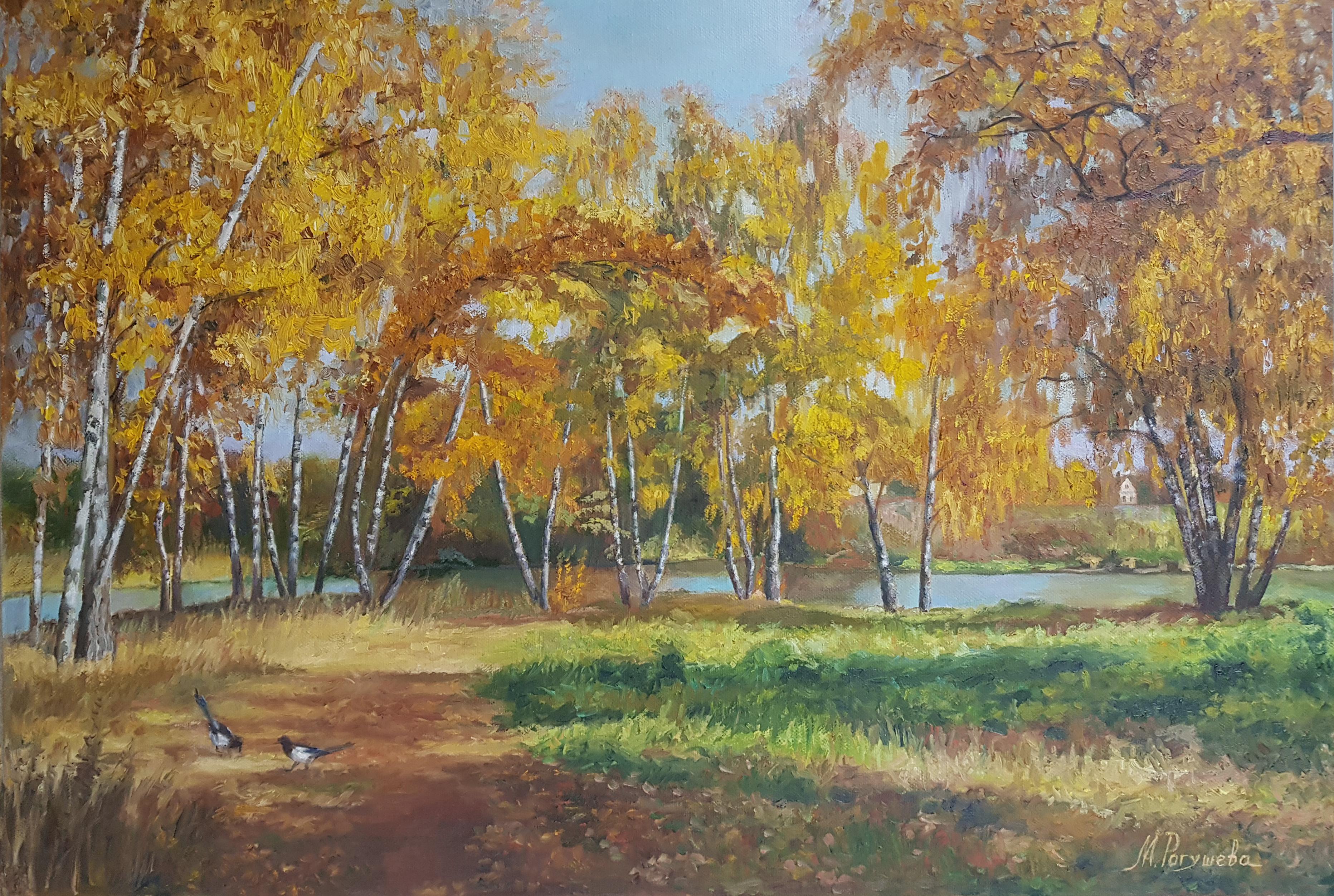 """""""Золотая осень в березовом парке"""""""